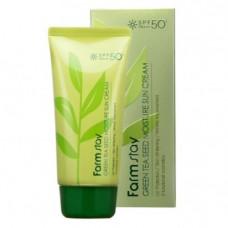 FarmStay Green tea seed moisture sun SPF 50/PA, 70г Крем солнцезащитный с семенами зеленого чая