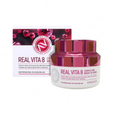 Enough Real vita 8 complex pro bright up cream, 50мл Крем для лица с витаминами