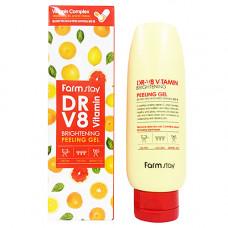 FarmStay Dr-v8 vitamin brightening peeling gel, 150мл Гель отшелушивающий с комплексом витаминов
