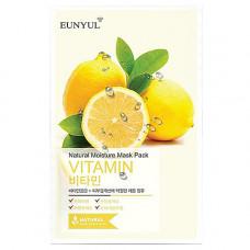 Eunyul Natural moisture mask pack vitamin, 22мл Маска тканевая с витаминами