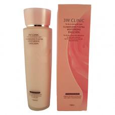 3W Clinic Flower effect extra moisture emulsion, 150мл Эмульсия для лица увлажнение