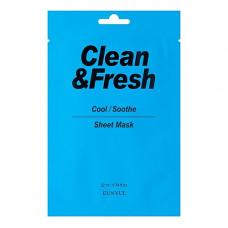 Eunyul Clean&fresh cool/soothe mask, 22мл Маска тканевая для охлаждающего и успокаивающего эффекта