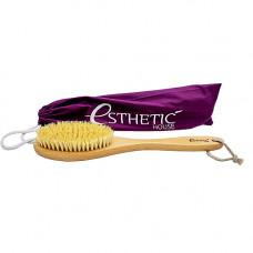 Esthetic House 39*8*4,5 см Щетка дренажная для сухого массажа бук/сизаль/лак,