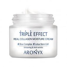 Aronyx Medi flower triple effect moisture cream, 50мл Крем для лица с морским коллагеном