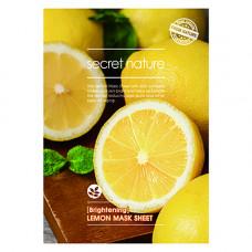 Secret Nature Lemon mask sheet, 25г Маска придающая сияние коже с лимоном