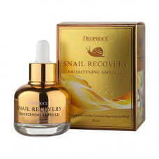 Deoproce Snail recovery brightening ampoule, 30мл Ампула сыворотка на основе муцина улитки