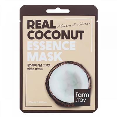 FarmStay Real сoconut essence mask, 23мл Маска тканевая для лица с кокосом