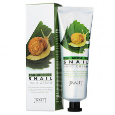 Jigott Real moisture snail hand сream, 100мл Крем для рук с экстрактом слизи улитки