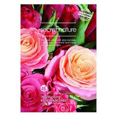 Secret Nature Moisturizing rose mask sheet, 25г Маска для лица увлажняющая с экстрактом розы