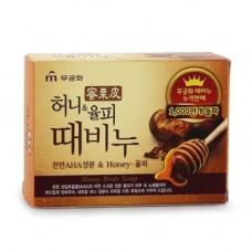 Mukunghwa Honey&chestnut shell exfoliating body soap, 100г Мыло скраб для тела с медом и каштаном