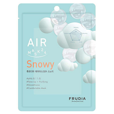 Frudia Air mask 24 snowy, 25мл Маска для лица обновляющая кремовая