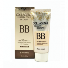 3W Clinic Collagen&luxury gold SPF 50, 50мл BBкрем с коллагеном