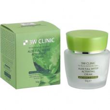3W Clinic Aloe full water activating, 50г Крем для лица с алоэ