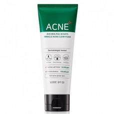 Some By Mi AHA-BHA-PHA 30Days miracle acne clear foam, 100мл Пенка для проблемной кожи с кислотами