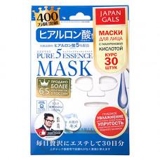 Japan Gals Hyaluronic acid mask, 30шт Маска с гиалуроновой кислотой