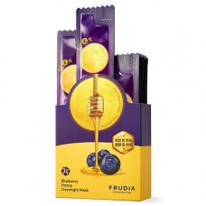 Frudia Blueberry honey overnight mask, 20*5мл Маска ночная питательная с черникой и медом