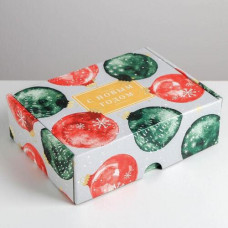 Коробка складная - «Уютного нового года», 30,7*22*9,5см