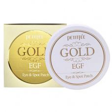 Petitfee Gold & EGF eye & spot patch, 90шт Патчи гидрогелевые для кожи вокруг глаз