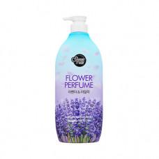 KeraSys Shower mate flower perfume purple flower, 900мл Гель для душа «лаванда»