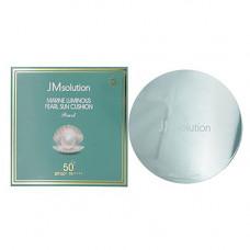 JMsolution Marine luminous pearl sun cushion SPF50+, 25г Солнцезащитный кушон с экстрактом жемчуга