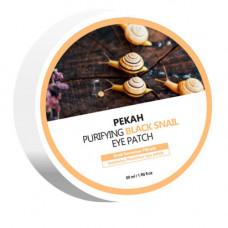 Pekah Purifying black snail eye patch, 60шт Патчи для глаз омолаживающие с муцином черной улитки