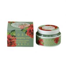 Jigott Rose flower energizing cream, 100мл Крем тонизирующий с экстрактом розы