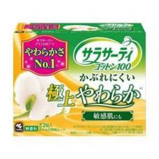 Kobayashi Cotton 100%, 56шт Прокладки ежедневные гигиенические 100% хлопок без аромата