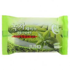 Juno Green tea peeling soap, 150г Мыло отшелушивающие с зеленым чаем