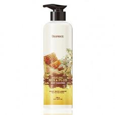 Deoproce Healing mix & plus body cleanser honey white jasmine, 750г Гель для душа мед и жасмин