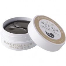Petitfee Black pearl & gold hydrogel eye-spot patch, 60шт Патчи гидрогелевые для глаз