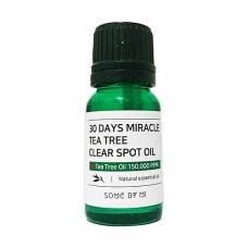 Some By Mi 30Days miracle tea tree clear spot oil, 10мл Масло для проблемной кожи с чайным деревом