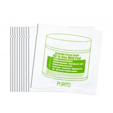 Purito Centella green level all in one mild pad, 10шт Пэды для очищения кожи с центеллой