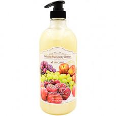 3W Clinic Relaxing body cleanser, 1000мл Гель для душа релакс фрукты