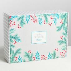 Коробка складная - Hello, winter, 30,7*22*9,5см