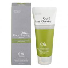 3W Clinic Snail foam cleansing, 100мл Пенка для лица с фильтратом улиточного муцина