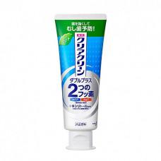 KAO Clear clean double plus light mint, 130г Зубная паста лечебно профилактическая мятная