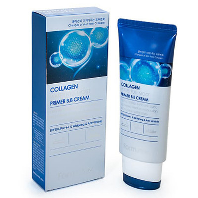 FarmStay Collagen water full moist primer bb cream, 50г ББ крем с коллагеном увлажняющий