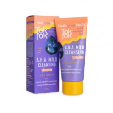 TokTok A.H.A.mild cleansing foam, 120мл Пенка мягкая очищающая для умывания с A.H.A кислотам
