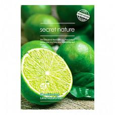 Secret Nature Conditioning lime mask sheet, 25г Маска для лица бодрящая с экстрактом лайма