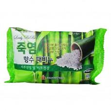 Juno Perfume peeling soap bamboo salts, 120г Мыло отшелушивающие с бамбуковой солью