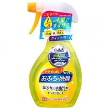 Funs , 380мл Спрей пенка чистящая для ванной комнаты с ароматом апельсина и мяты