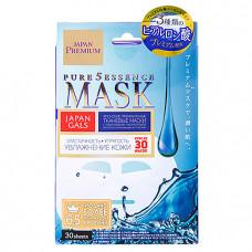 Japan Gals Hyaluronic acid face mask, 30шт Маска для лица c гиалуроновой кислотой