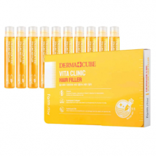 FarmStay Derma сube vita clinic hair filler, 10шт*13мл Филлер для волос с витаминами