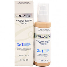 Enough Collagen whitening foundation 3in1, 100мл Основа тональная с коллагеном 13тон