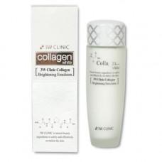 3W Clinic Collagen whitening brightening emulsion, 150мл Эмульсия для лица осветляющая