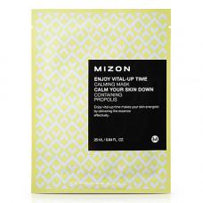Mizon Enjoy vital up time calming mask, 30мл Маска для лица тканевая успокаивающая