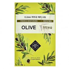 Etude House Therapy air mask olive, 20мл Маска тканевая с маслом оливы
