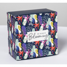 Коробка складная - «Цветочный сад», 14*14*8см