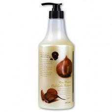 3W Clinic More moisture black garlic shampoo, 1500мл Шампунь для волос черный чеснок