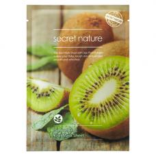 Secret Nature Smoothing kiwi mask sheet, 25г Маска для лица выравнивающая с экстрактом киви